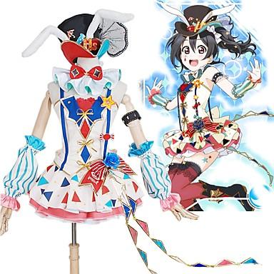 Esinlenen Canlı Aşk Cosplay Anime Cosplay Kostümleri Cosplay Takımları Zıt Renkli Elbise / Fiyonk / Daha Fazla Aksesuarlar Uyumluluk Erkek / Kadın's