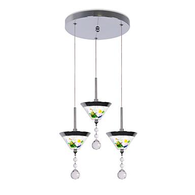 CONTRACTED LED 3-Light Konus Privjesak Svjetla Ambient Light Electroplated Metal Acrylic Mini Style, Slatko, Kreativan 110-120V / 220-240V
