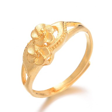 Žene Prsten Prilagodljivi prsten 1pc Zlato Pozlaćeni dame Luksuz Hiperbola Vjenčanje Dar Jewelry Klasičan Slatko