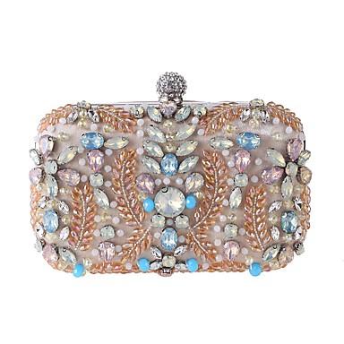 Acquista A Buon Mercato Per Donna Sacchetti Poliestere Borsa Da Sera Perline - Dettagli Con Perline Floral - Botanico Nero - Mandorla #07016903