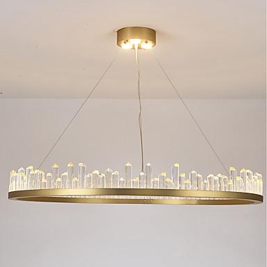 Ecolight™ Cirkularno / Kristal / Podignuti Lusteri Ambient Light Slikano završi Aluminij Crystal, Mini Style, Kreativan 110-120V / 220-240V Meleg fehér / Bijela