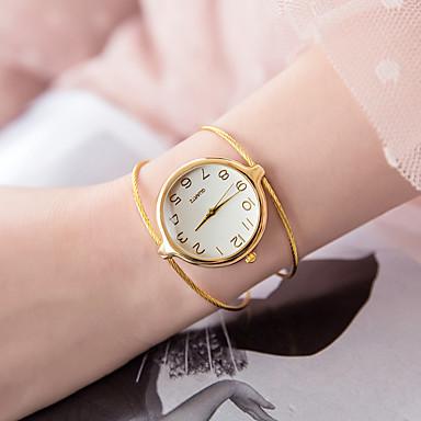 baratos Relógios Senhora-Mulheres Bracele Relógio Quartzo Prata / Dourada Relógio Casual Analógico senhoras Fashion Minimalista - Prata Dourado