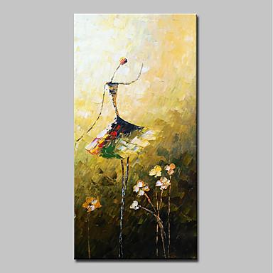 Hang oslikana uljanim bojama Ručno oslikana - Sažetak Ljudi Moderna Uključi Unutarnji okvir / Prošireni platno