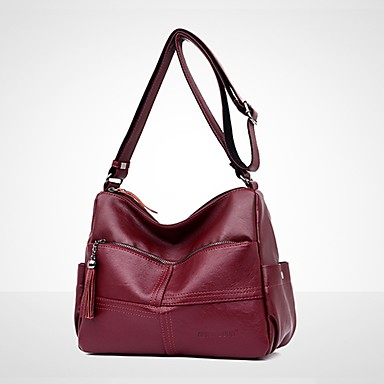 9f02fd5fee Γυναικεία Τσάντες PU Τσάντα ώμου Φερμουάρ   Φούντα Συμπαγές Χρώμα Θαλασσί    Μαύρο   Ρουμπίνι