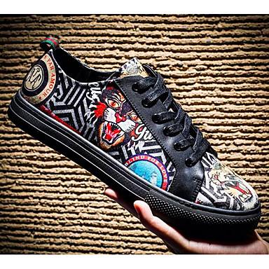 100% Vero Per Uomo Scarpe Comfort Pelle Di Maiale Estate Sneakers Nero #07079012 Per Prevenire E Curare Le Malattie