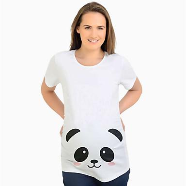 billige Baby & Kids-Mammaklær T-skjorte Dame - Tegneserie Gatemote Hvit