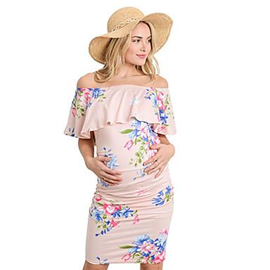 35817f950 abordables Ropa de Maternidad-Mujer Elegante Vaina Vestido Floral Sobre la  rodilla · Mujer Elegante Vaina Vestido Floral Sobre la rodilla
