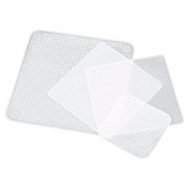 4 stk silikon mat frisk wraps gjenbrukbar tetningsdeksel strekke kjøkkenredskaper