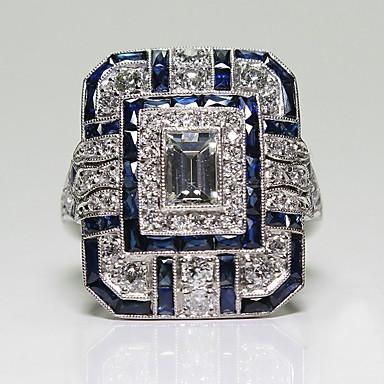 billige Motering-Dame Ring / tommelfingerring 1pc Blå Legering Sirkelformet Europeisk / trendy / Romantikk Bryllup / Stevnemøte Kostyme smykker
