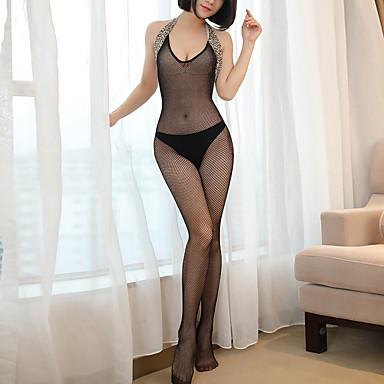 Žene Super seksi Odijelo Noćno rublje - Otvorena leđa Leopard Crn One-Size / S naramenicama