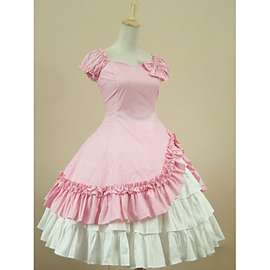 Princess Sweet Lolita Dress Women\'s Girls\' Dress Cosplay Pink Ball ...