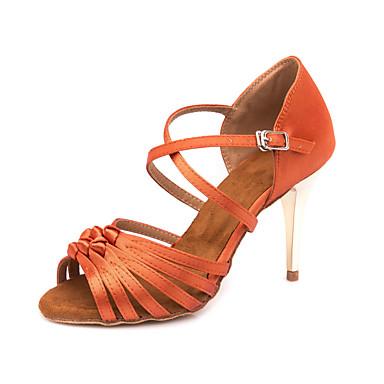 add54cfd89bf Žene Cipele za latino plesove Saten Sandale   Tenisice Kopča Tanka visoka  peta Moguće personalizirati Plesne