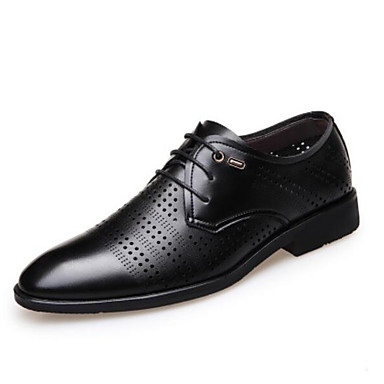 Erkek Ayakkabı Mikrofiber Yaz Oxford Modeli Günlük için Siyah / Kahverengi