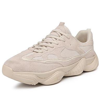 Erkek Ayakkabı Suni Deri / Örümcek Ağı İlkbahar yaz Sportif Atletik Ayakkabılar Koşu Atletik / Günlük için Siyah / Bej / Kırmzı