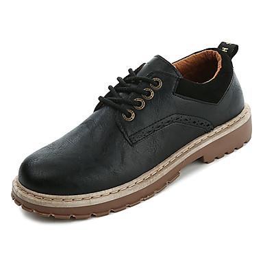 رجالي أحذية الراحة PU الشتاء بريطاني أوكسفورد غير الانزلاق أسود / بني