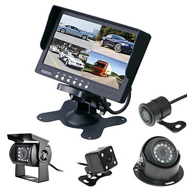 voordelige Automatisch Electronica-renepai® 7 inch 4 in1 hd-monitor + bus 170 ° hd auto achteruitrijcamera waterdichte camera kabellengte 6m, 10m, 16m, 20m,