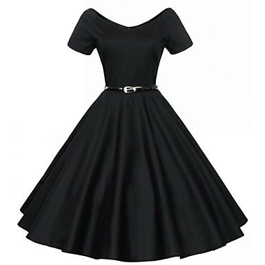 Audrey Hepburnová Retro Malé černé šaty 50. léta 60. léta Voskovaná Kostým  Dámské Šaty 397406f807