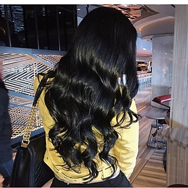 Remy kosa Full Lace Lace Front Perika Asimetrična frizura stil Brazilska kosa Duboko kovrčava Natural Perika 130% 150% 180% Gustoća kose Nježno Žene Jednostavan dressing Sexy Lady Najbolja kvaliteta