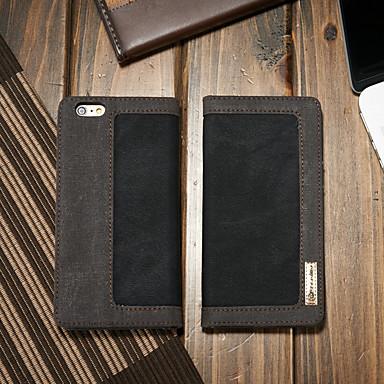 Θήκη Za Apple iPhone 6s / iPhone 6 Novčanik / Utor za kartice / sa stalkom Korice Jednobojni Tvrdo Tekstil