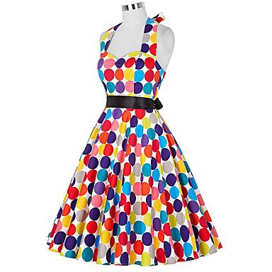 Audrey Hepburn Tupfen Retro / Vintage 50er Kleid Damen ...