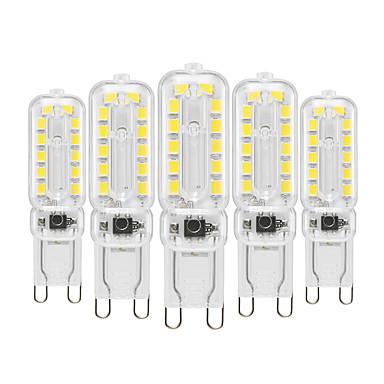 billige Elpærer-YWXLIGHT® 5pcs 6 W LED-lamper med G-sokkel 450-550 lm G9 T 22 LED Perler SMD 2835 Dæmpbar Dekorativ Varm hvid Kold hvid Naturlig hvid 220-240 V 110-130 V / 5 stk. / RoHs