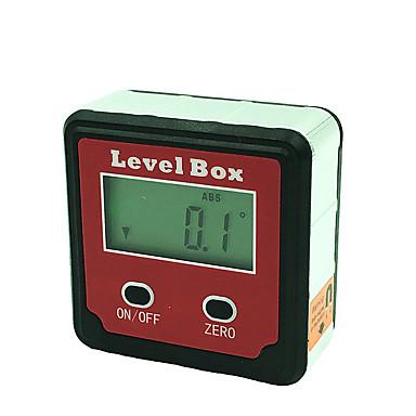 voordelige Test-, meet- & inspectieapparatuur-draagbare precisieverlichting met 2 toetsen en magnetische inclinometer met een digitaal elektronenscherm