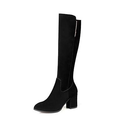 Per Per Per donna Scamosciato Autunno Stivaletti Quadrato Stivali alti Nero | Meraviglioso  | Conosciuto per la sua eccellente qualità  | Outlet Store Online  | Uomo/Donne Scarpa  98932c