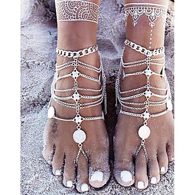 Žene Gležanj Narukvica nakit za noge Novčić dame Jednostavan Osnovni Kratka čarapa Jewelry Pink Za Dar Svečanost