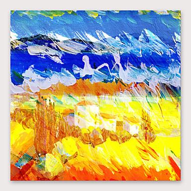 Hang-dipinto Ad Olio Dipinta A Mano - Astratto Modern Include Interno Della Montatura #07100244