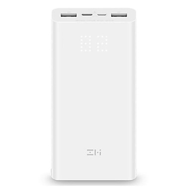 billige Eksterne batterier-xiaomi zmi power bank 20000mah eksternt batteri bærbar ladestyrke digital display qc3.0 dual usb qb821 20000 mah powerbank