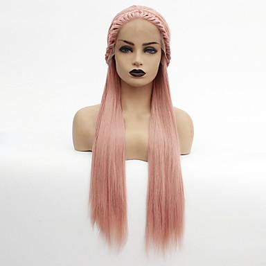 Pruik Lace Front Synthetisch Haar Dames Havana Twist Roze Middelste stuk Synthetisch haar 22-26 inch(es) Hittebestendig / Dames / Middenscheiding Roze Pruik Lang Lijmloze / Kanten Voorkant Goud Rose