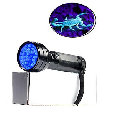 billige Lommelykter & campinglykter-On-Off LED Lommelygter 100 lm LED - emittere 1 lys tilstand Vanntett Ultrafiolett lys Forfalskning Detektor Dagligdags Brug Reise