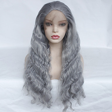 f43f2199d cheap Wigs & Hair Pieces-Synthetic Lace Front Wig Wavy Style Middle  Part Glueless