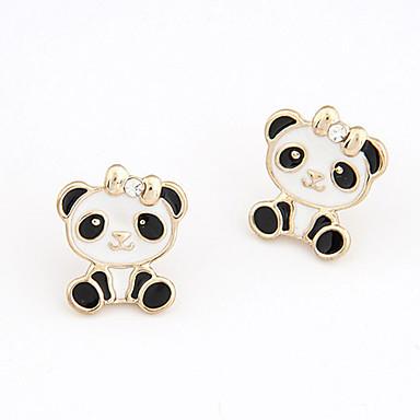 billige Moteøreringer-Dame Øredobber Klassisk Panda Asiatisk Mote søt stil Fuskediamant øredobber Smykker Hvit / Rosa Til Gave Daglig 1 par
