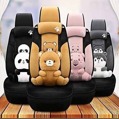voordelige Auto-interieur accessoires-Auto-stoelkussens Hoofdsteun en taille kussensets Zwart / Grijs / Roze Wistiti Cartoon Voor GM Alle jaren
