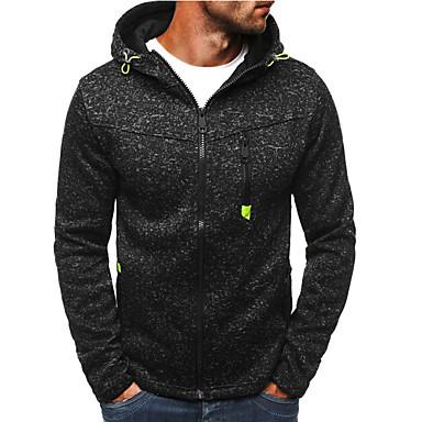 Erkek Actif / Temel Kapüşonlu Giyecek / hoodie Ceket - Yuvarlak Noktalı, Bölünmüş