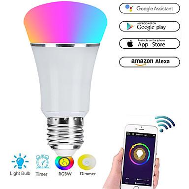 povoljno Smart Lights-e27 7w vodio smart wifi žarulje 22 vodio kuglice smd 5730 radi s Amazon alexa / app kontrole / google home rgbw 85-265v