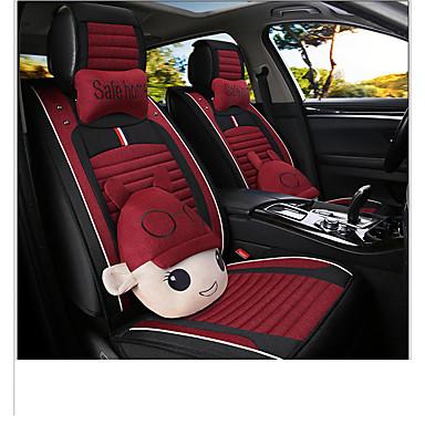 voordelige Auto-interieur accessoires-Auto-stoelhoezen Hoofdsteun en taille kussensets Rood / Blauw / Roze Ander leertype Cartoon Voor GM Alle jaren