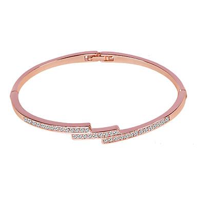 voordelige Dames Sieraden-Dames Bangles Klassiek Eenvoudig Legering Armband sieraden Zilver / Goud Rose Voor Verjaardag Dagelijks Formeel
