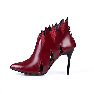 povoljno Ženske čizme-Žene PU Proljeće ljeto Vintage Čizme Stiletto potpetica Krakova Toe Crn / Burgundac / Vjenčanje / Zabava i večer
