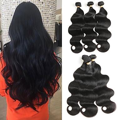 3 pacotes Cabelo Brasileiro Onda de Corpo Cabelo Natural Remy Extensões de Cabelo Natural 8-22 polegada Tramas de cabelo humano Macio Melhor qualidade Nova chegada Extensões de cabelo humano Mulheres