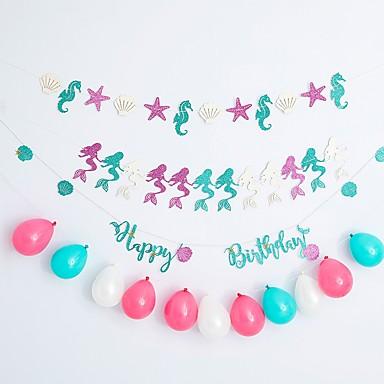 voordelige Feestbenodigdheden-Ballon HardKaart Paper 1 set Verjaardag