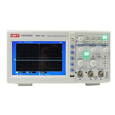 voordelige Test-, meet- & inspectieapparatuur-uni-t utd2102cex digitale 2 kanalen 1g 100mhz 7 inch tft lcd-opslagoscilloscoop