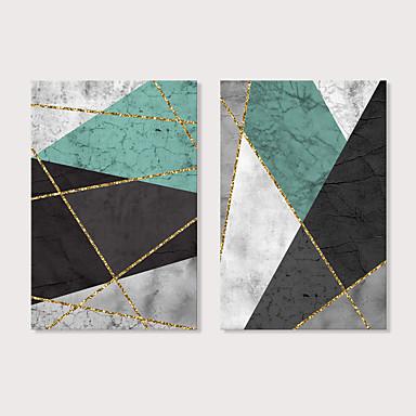 billige Trykk-Trykk Strukket Lerret Trykk - Abstrakt Moderne Moderne Kunsttrykk