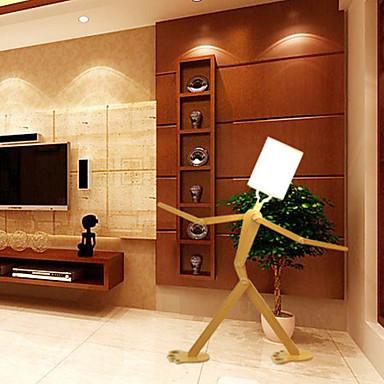 halpa Lamput ja varjostimet-ywxlight® moderni nykyaikainen koristeellinen puinen lattiavalaisin, valkoisella kankaalla varustettu säädettävä olohuoneen makuuhuoneen kodinsisustusta varten 43,3 tuuman ainutlaatuinen muotoilu