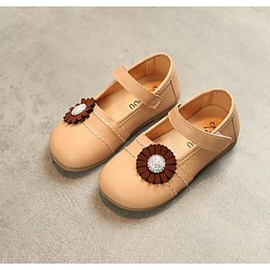 6d6f86cddbbd8 Fille Chaussures Polyuréthane Printemps   Automne Confort Ballerines pour  Bébé Beige   Rouge   Rose