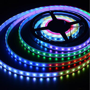 billige LED Strip Lamper-brelong fargerik smd5050 150led gummi vanntett lys stripe 5m bredde 10mm