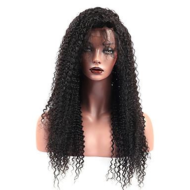 Remy vlasy Se síťkou Se síťovanou přední částí Paruka Brazilské vlasy Afro  Kinky Velké vlny Paruka d5de536756