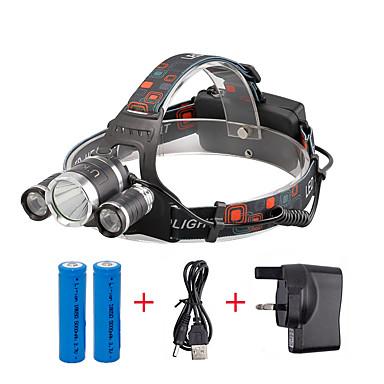 U'King Otsalamput LED LED 3 Emitters 2400 lm 4.0 lighting mode Akuilla ja laturilla Kompakti koko Helppo kantaa Telttailu / Retkely / Luolailu Päivittäiskäyttöön Pyöräily