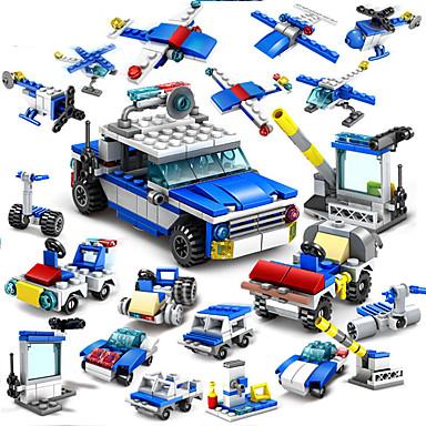 אבני בניין 16 pcs משטרה תואם Legoing עבודת יד אינטראקציה בין הורים לילד כל צעצועים מתנות